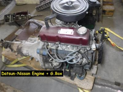1900 Datsun parts Engine and gearbox