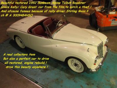 1952 Sunbeam Alpine Talbot restored